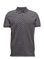 Jacquard Polo Shirt - CHARCOAL MARL