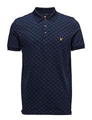 Jacquard Polo Shirt - NAVY