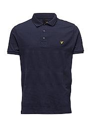 Mouline Yoke Detail Polo Shirt - NAVY
