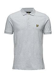 Mouline Yoke Detail Polo Shirt - SKY BLUE MARL