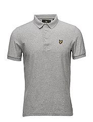 Rain Jacquard Polo Shirt - LIGHT GREY MARL