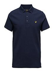 Ottoman Stitch Polo Shirt - NAVY