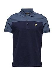 Yoke Polo Shirt - BLUE STEEL