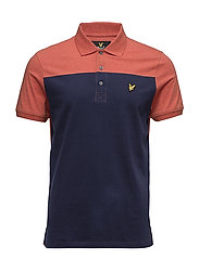 Yoke Polo Shirt - FLAME RED MARL