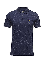 Mini Square Dot Polo Shirt - NAVY