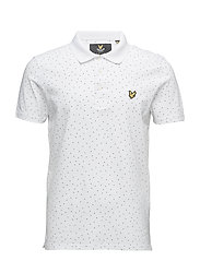 Mini Square Dot Polo Shirt - WHITE