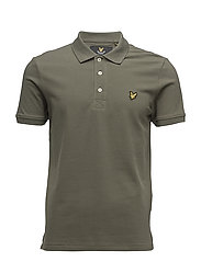 Plain Pick Stitch Polo Shirt - DUSTY OLIVE
