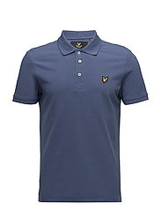 Plain Pick Stitch Polo Shirt - STORM BLUE