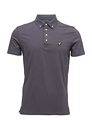 Woven Collar Polo Shirt - WASHED GREY