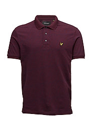 Distorted Pattern Polo Shirt - CLARET JUG