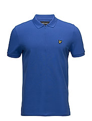 Zip Polo Shirt - LAKE BLUE