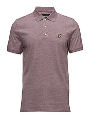 Mouline Polo Shirt - CLARET JUG