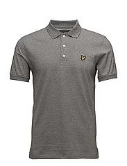 Mouline Polo Shirt - LIGHT GREY