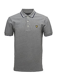 Tipped Polo Shirt - MID GREY MARL