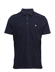 Towelling Polo Shirt - NAVY
