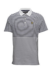 Stripe Polo Shirt - NAVY