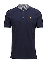 Check Woven Collar Polo Shirt - NAVY