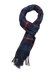 Woven Lyle & Scott tartan scarf - NEW NAVY