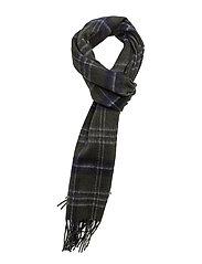 Woven Lyle & Scott tartan scarf - OLIVE