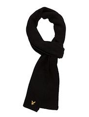 Racked rib scarf - TRUE BLACK