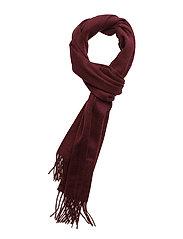 Plain lambswool scarf - CLARET JUG