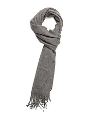 Plain lambswool scarf - MID GREY MARL