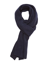 Diamond Knitted Scarf - NAVY