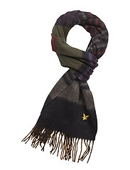 Horizontal Stripe Scarf - DARK BROWN