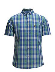 SS Lyle & Scott tartan shirt - Vert Green