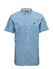 SS Gingham Check Shirt - DEEP COBALT