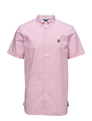 SS Gingham Check Shirt - SUMMER PINK