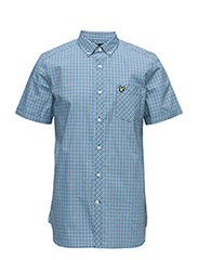 Micro Check Shirt - DEEP COBALT