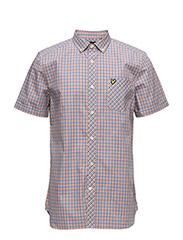Micro Check Shirt - MARIGOLD