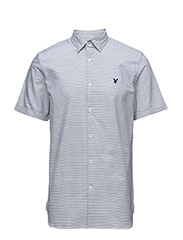 Horizontal Stripe Oxford Shirt - PRESENT BLUE