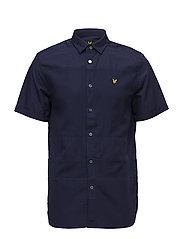 SS Textured Stripe Shirt - NAVY