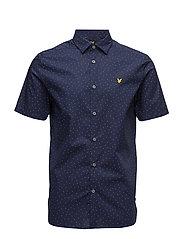SS Mini Square Dot Shirt - NAVY