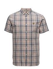 SS Check Shirt - DUSTY PINK