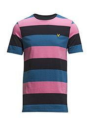 SS Rugby Stripe Jersey T-shirt - Hot Pink
