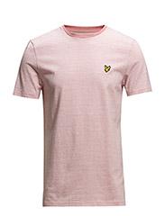 SS Crew neck fine stripe t-shirt - PINK MARL