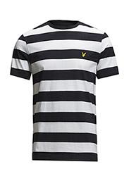 SS Block Stripe T-Shirt - New Navy