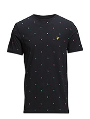 SS Micro split square t-shirt - New Navy