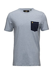 Contrast Pocket T-Shirt - BLUE MARL