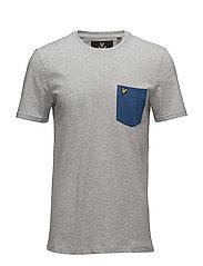 Contrast Pocket T-Shirt - LIGHT GREY MARL