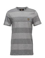 Wide Stripe T-Shirt - MID GREY MARL