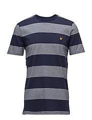Wide Stripe T-Shirt - NAVY