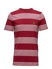 Wide Stripe T-Shirt - RUBY