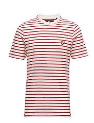 Breton Stripe T-shirt - RACING RED