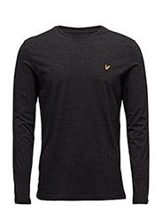 LS Plain T-Shirt - CHARCOAL MARL