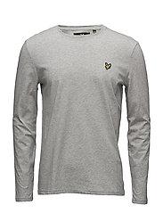 LS Plain T-Shirt - LIGHT GREY MARL