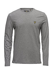 LS Crew Neck T-shirt - MID GREY MARL